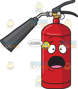 Shocked And Surprised Fire Extinguisher Emoji