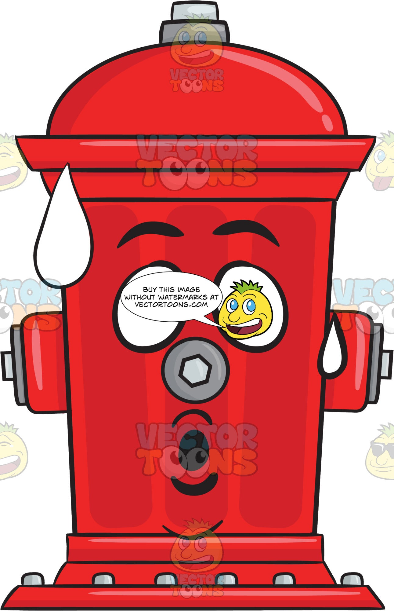 Shocked And Surprised Look On Fire Hydrant Emoji