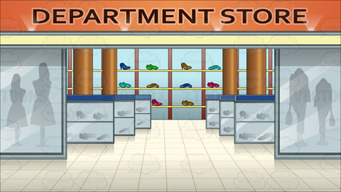 Shoe Section In A Department Store Background