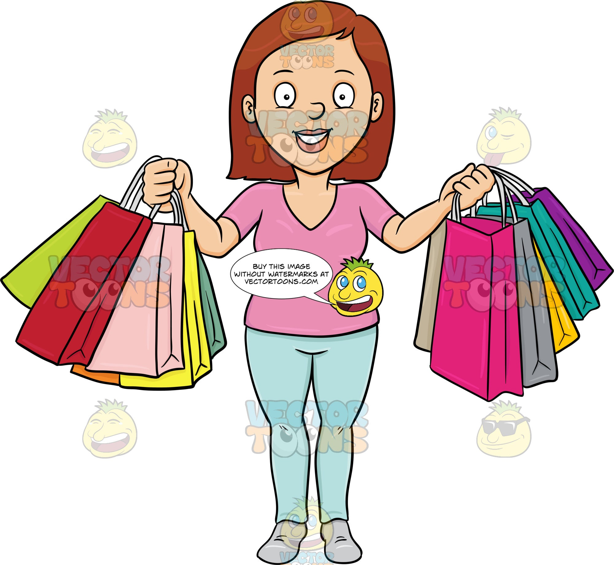 A Woman Smiles In Pleasure After A Shopping Spree