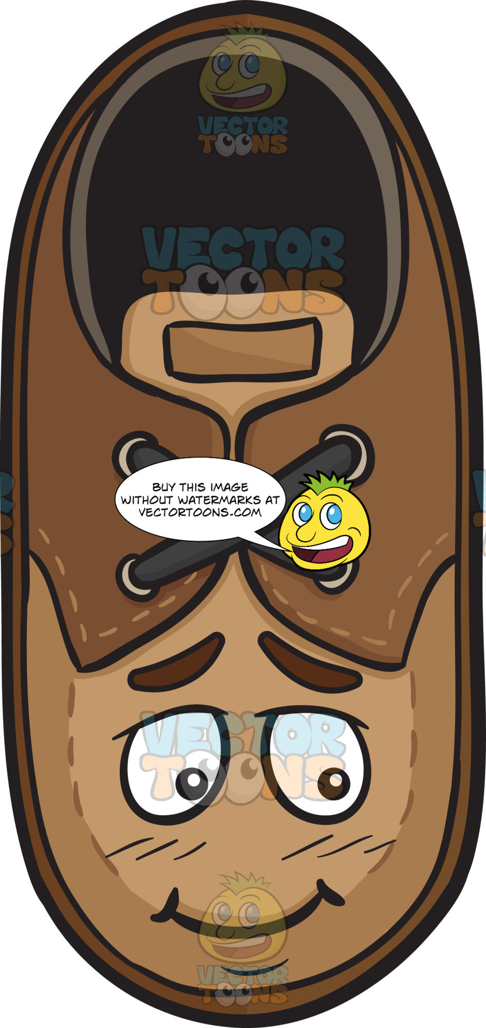 Shy Brown Shoe Emoji