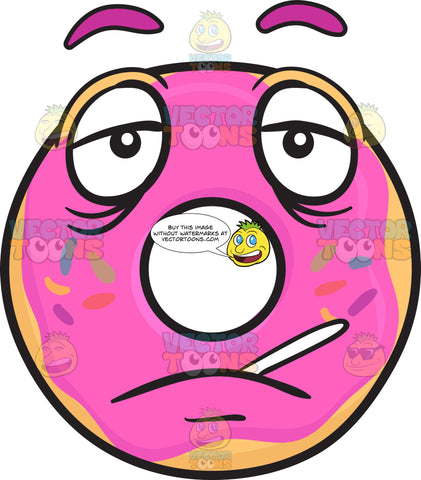 Sick Donut With Thermometer Emoji