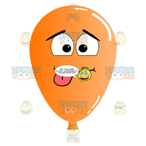 Silly Playful Balloon With Tongue Sticking Out Emoji