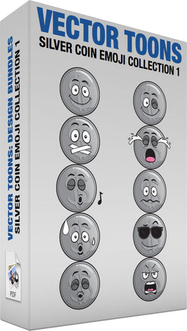 Silver Coin Emoji Collection 1