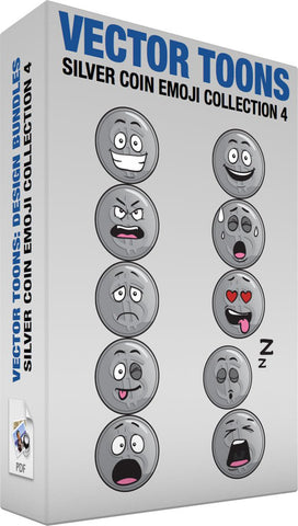 Silver Coin Emoji Collection 4