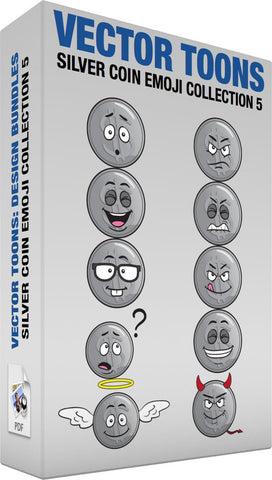 Silver Coin Emoji Collection 5