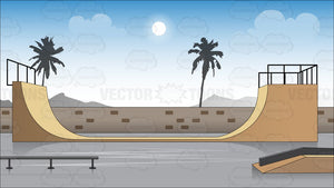 Skateboard Park Background