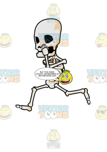 A Skeleton Running So Fast
