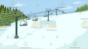 Ski Slope Background