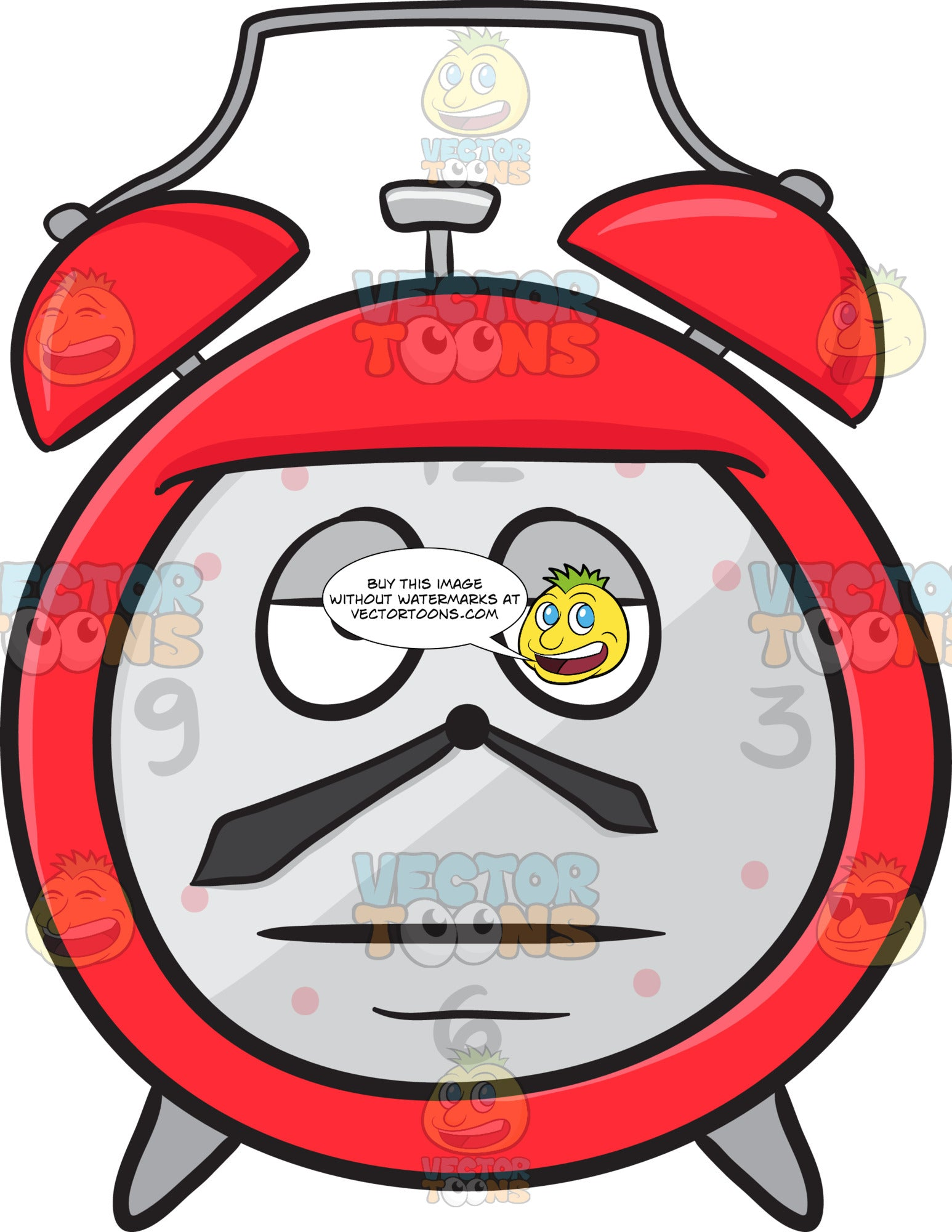 Sleepy Alarm Clock Emoji