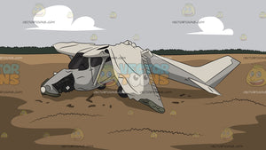 Small Airplane Crash Site Background