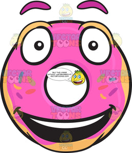 Smiling Donut With Bright Look On Face Emoji