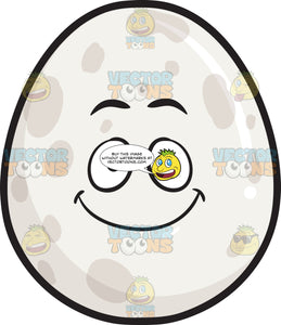 Smiling Whole Egg With Spots Emoji