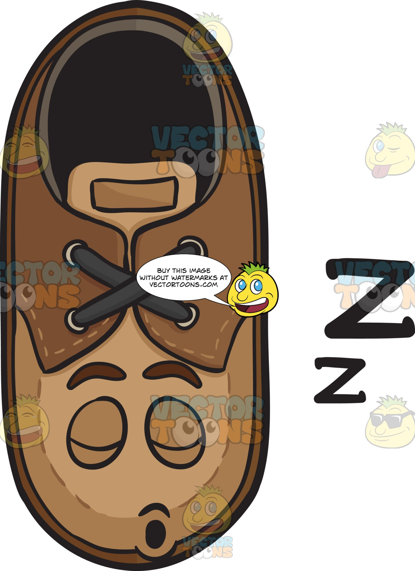 Snoring Brown Shoe Drifting Zs Emoji