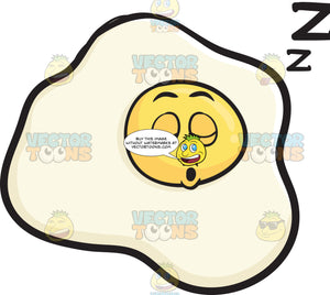 Snoring Sunny Side Up Egg Drifting Zs Emoji
