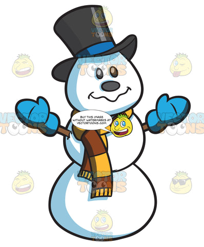 A Snowman With Scarf