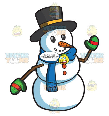 A Playful Looking Snowman