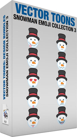 Snowman Emoji Collection 3