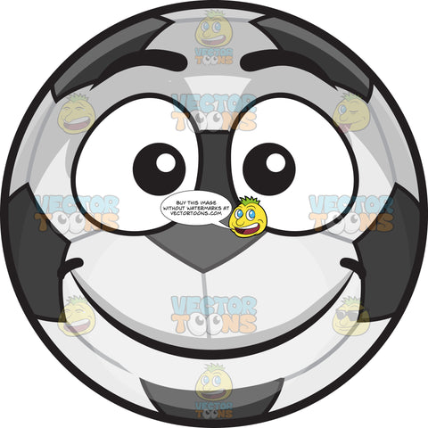 A Smiling Soccer Ball