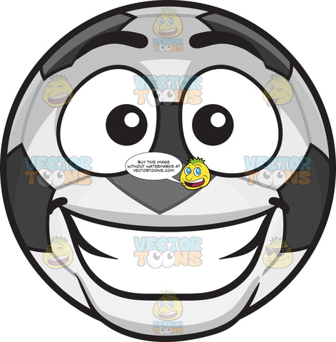 A Happy Soccer Ball