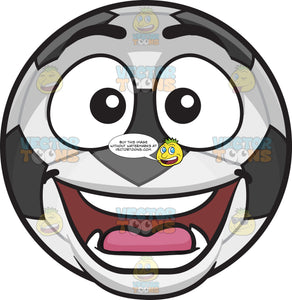 A Surprised Soccer Ball