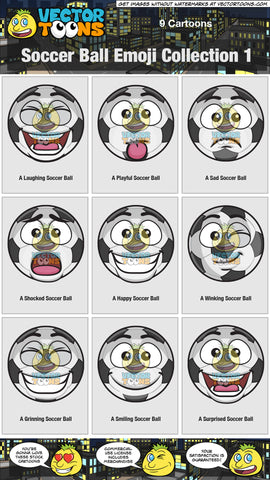 Soccer Ball Emoji Collection 1