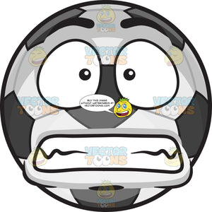 A Scared Soccer Ball