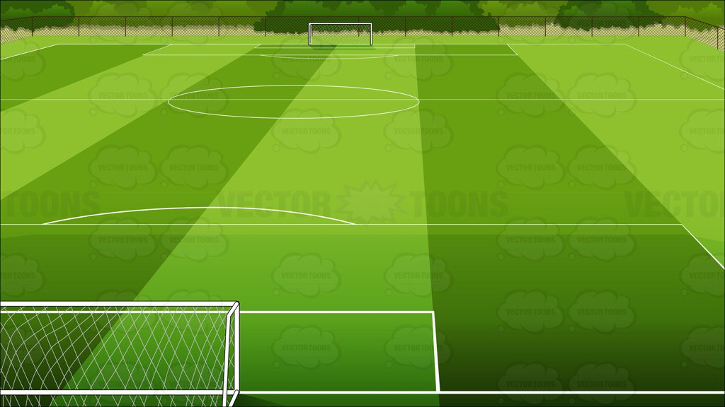 Soccer Field Background – Clipart Cartoons By VectorToons
