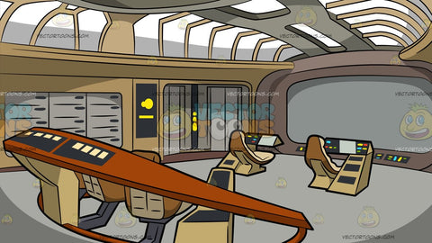 Spaceship Control Room Background
