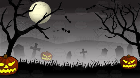Spooky Graveyard Halloween Background