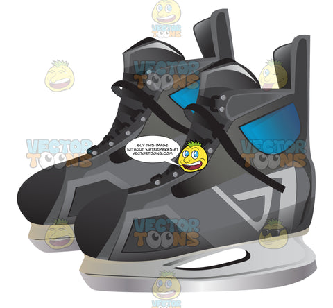 Pair Of Black Ice Skates