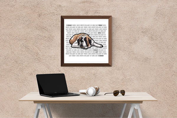 St Bernard Dog Printing / Embroidery Designs