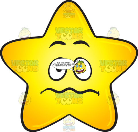 Nervous Looking Single Gold Star Emoji