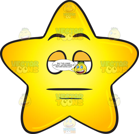 Sleepy Eyed Single Gold Star Emoji