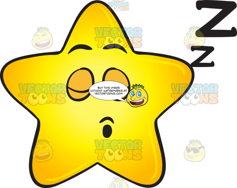 Snoring Gold Star Cartoon Drifting Zs Emoji