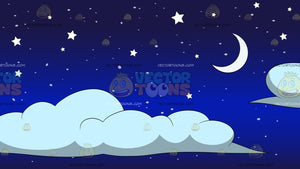 Stars Moon And Clouds Background
