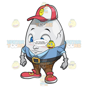 Humpty Dumpty Wearing A Cap