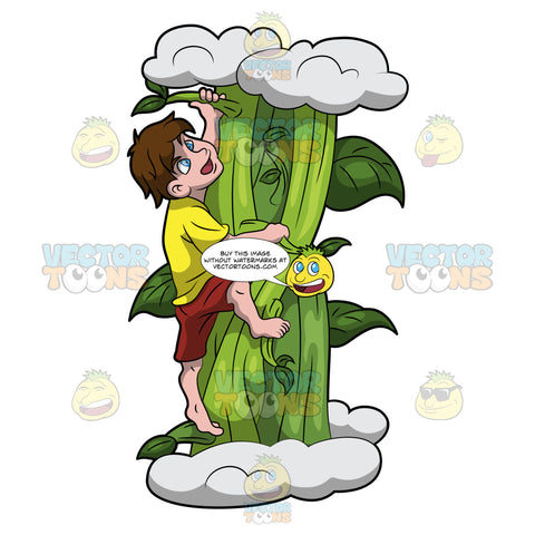 Jack Climbing Up The Giant Beanstalk