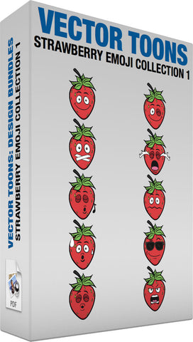 Strawberry Emoji Collection 1