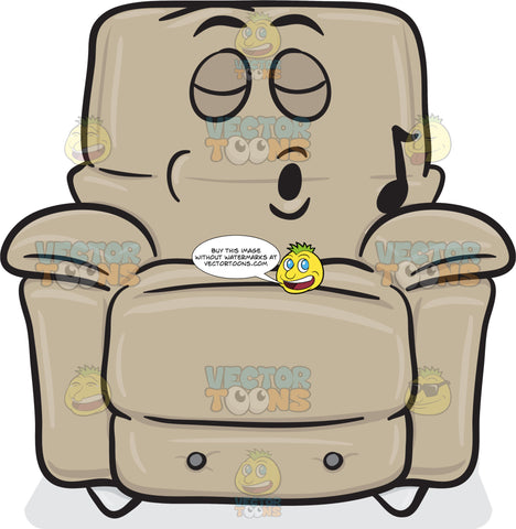 Stuffed Chair Singing In Pleasure Emoji
