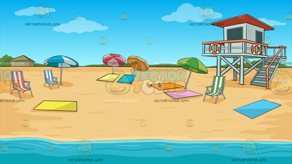 Summer Beach Shore Background Clipart Cartoons By