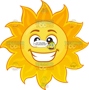 A Happy Sun Emoji