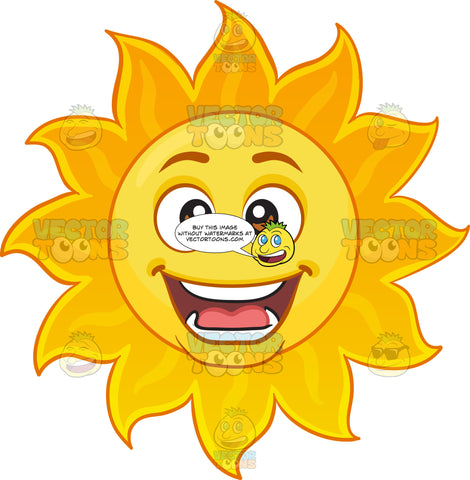 A Cheerful Sun Emoji