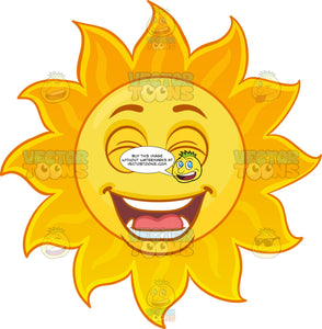 A Bright And Funny Sun Emoji