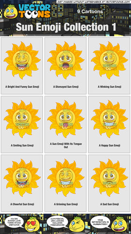 Sun Emoji Collection 1