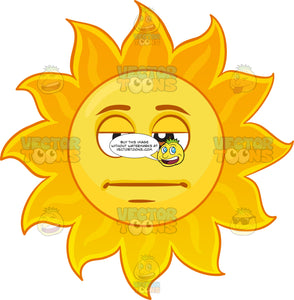 A Straight Faced Sun Emoji