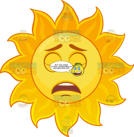 A Tired Sun Emoji