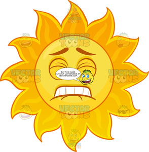 A Sun Emoji In Pain