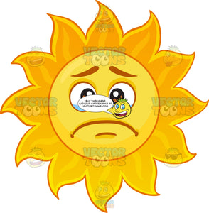 A Crying Sun Emoji