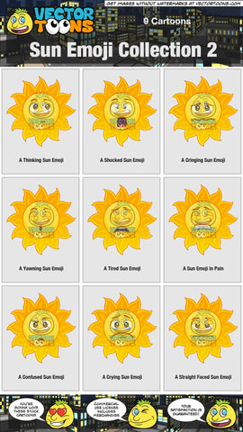 Sun Emoji Collection 2
